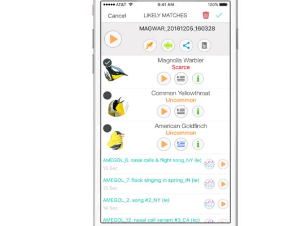 スマホアプリ「Song Sleuth」のサンプル画面