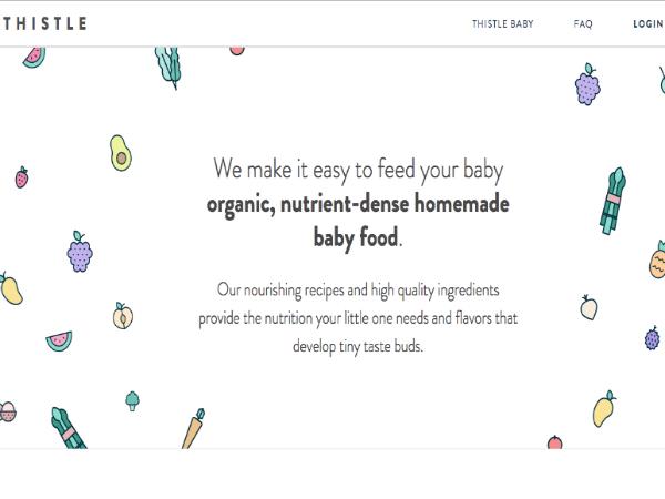 離乳食に特化した定期購入サービス「Thistle Baby」
