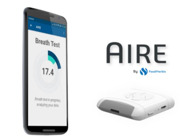 「AIRE」の本体と専用スマホアプリ