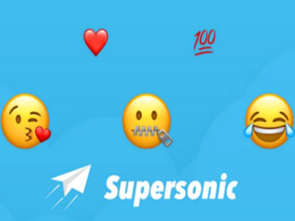 音声を絵文字とテキストで変換する「Supersonic」