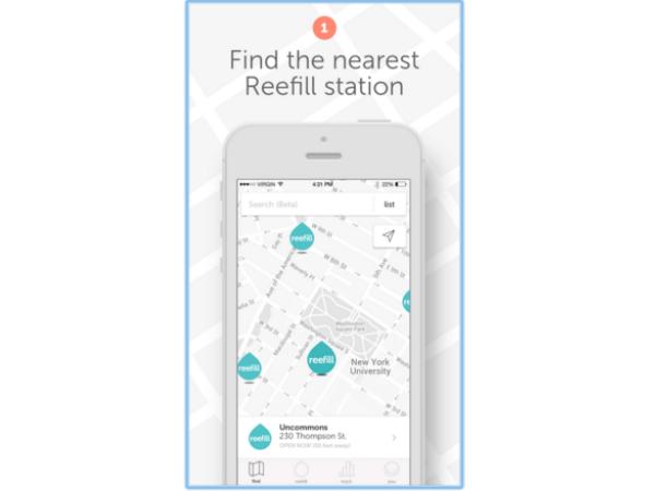 Reefillのスマホアプリのスクリーンショット