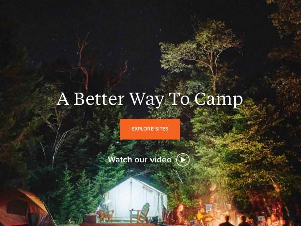私有テント場と利用者をつなぐ「Tentrr」