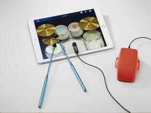 iPadがドラムセットに!スティックとペダルセットも付属の疑似演奏キット「TOUCHBEAT」