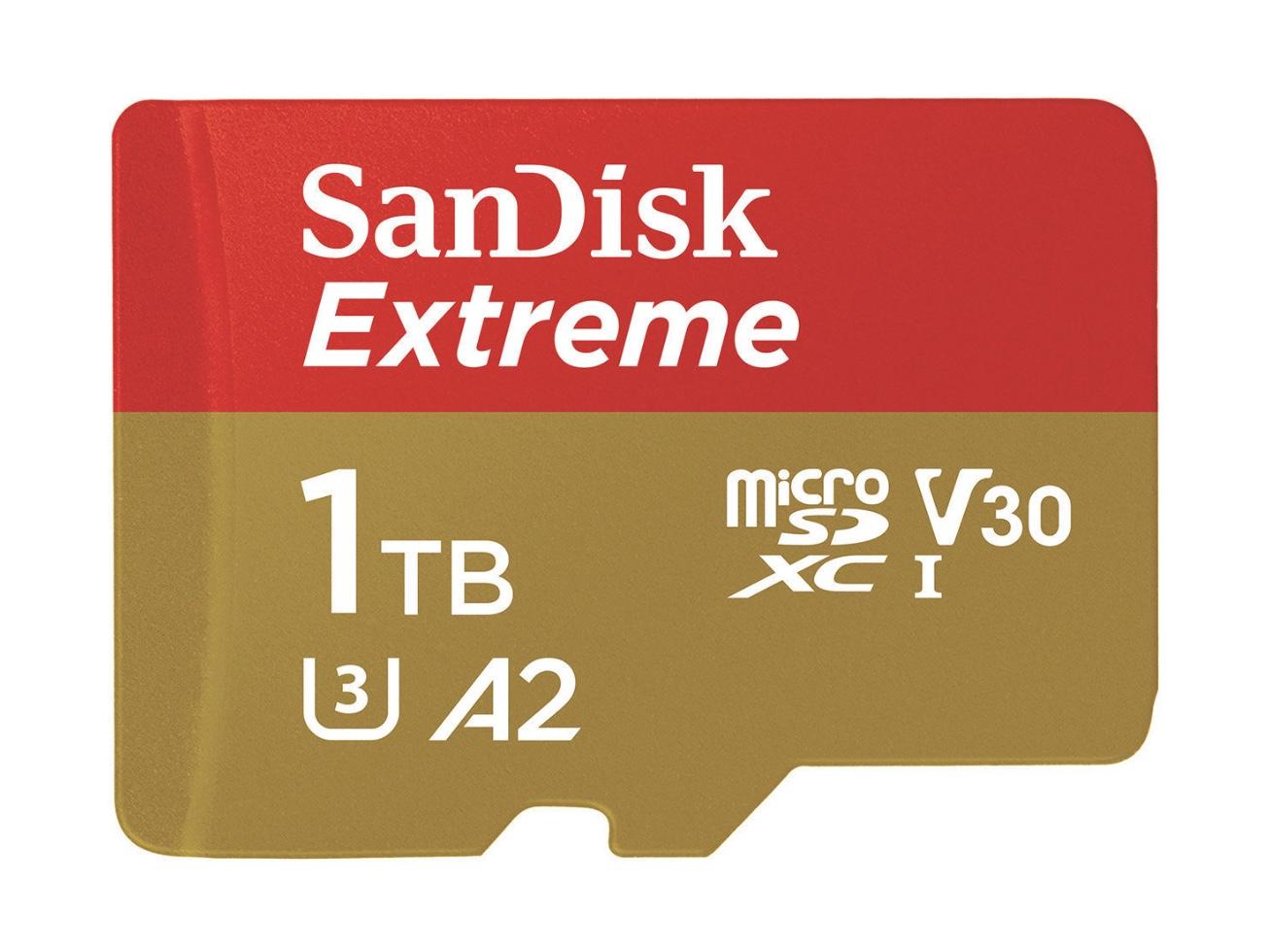 データ容量気にせず4Kビデオをたっぷり撮れる! SanDiskが1TBカード発売