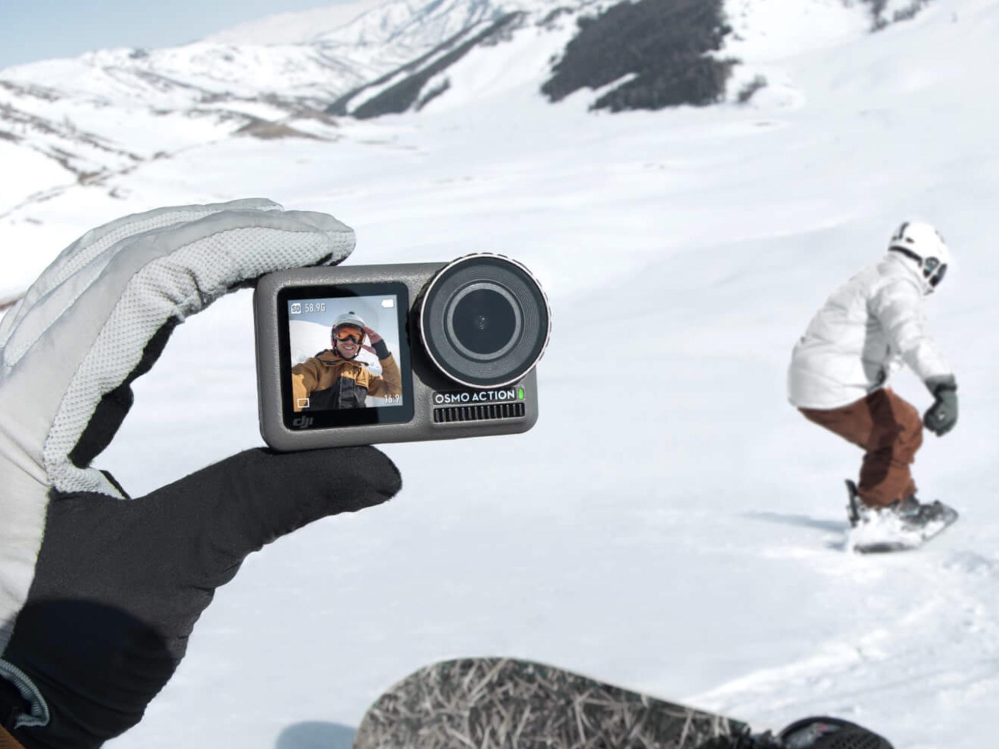 手ぶれなし、フロントモニター付きの4Kアクションカメラ「Osmo Action」来月発売