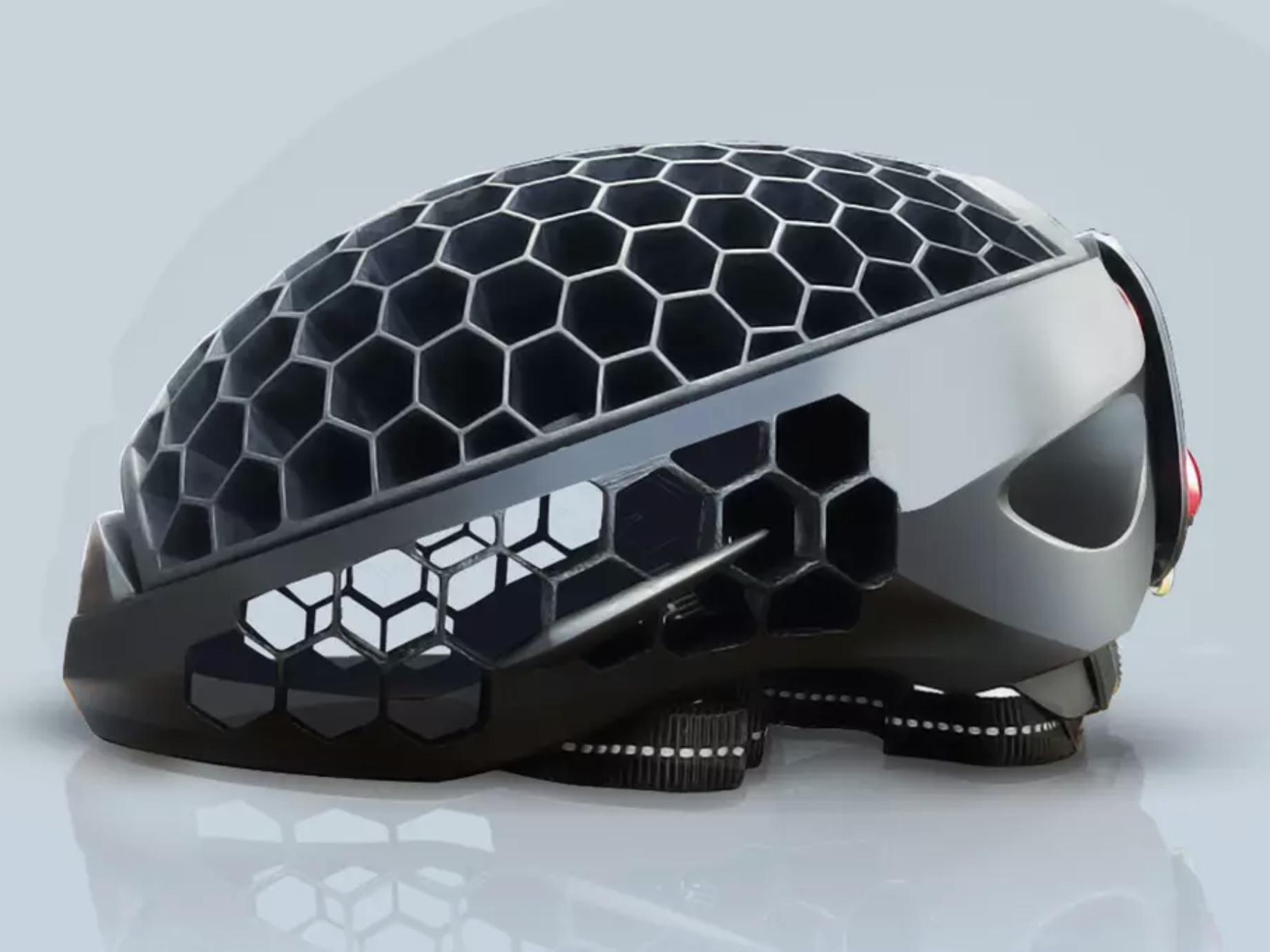 海洋廃棄プラから作られた自転車用ヘルメット「Cyclo」はコンパクトにして持ち運べる!