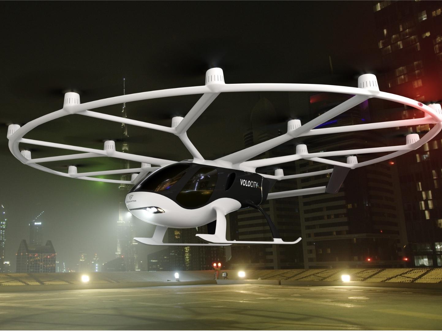 2人乗りで35キロ飛行! Volocopter が初の空飛ぶタクシー商業用機体「VoloCity」を公開