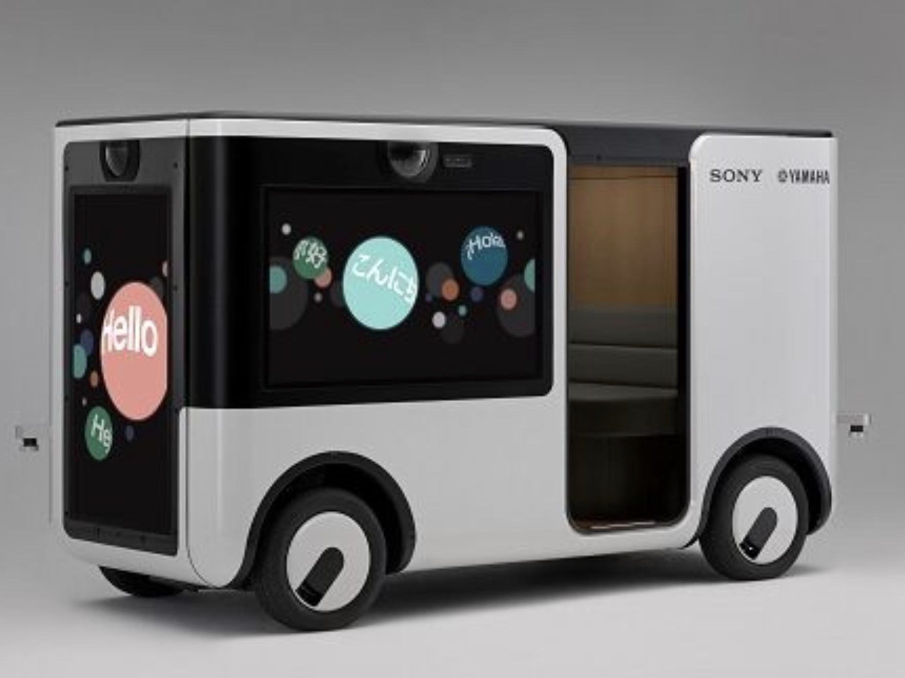 移動しながらエンターテイメントが楽しめる電動車両「SC-1」、ソニーとヤマハ発動機が共同開発