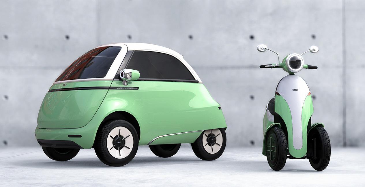 フロントドアから乗り降りする超小型電気自動車Microlinoが新モデルと共に、電動バイクを発表 | Techable(テッカブル)
