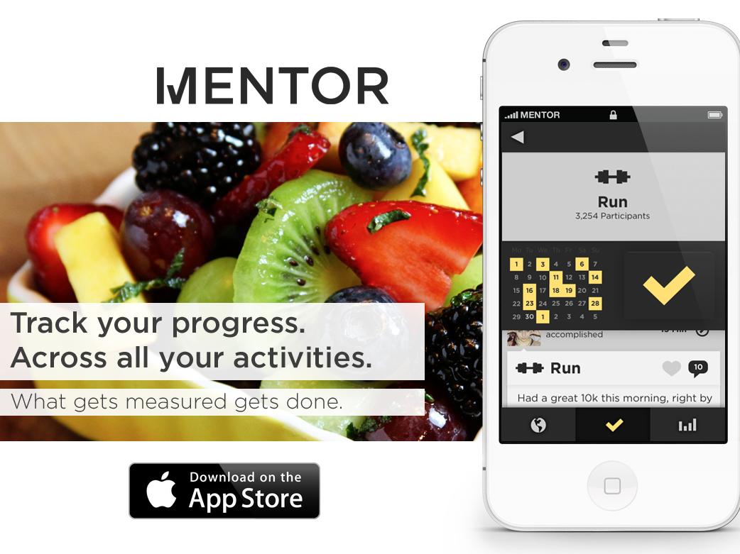 目標達成を支援してくれるアプリ「Mentor」、ソーシャル機能で ...