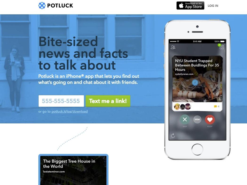 リンク共有に特化した「Potluck」からiOSアプリ コメントやニュース ...