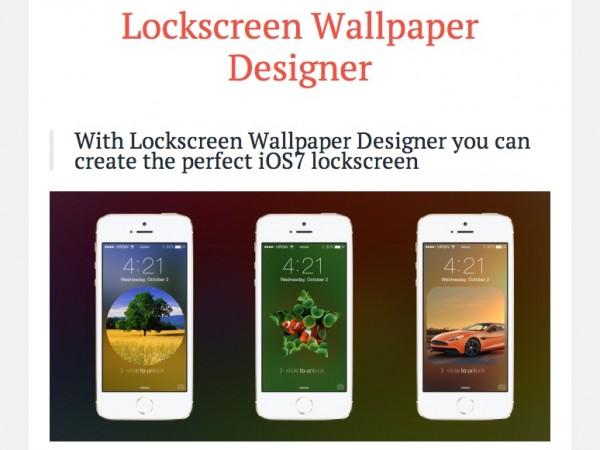 Lockscreen Wallpaper Designer