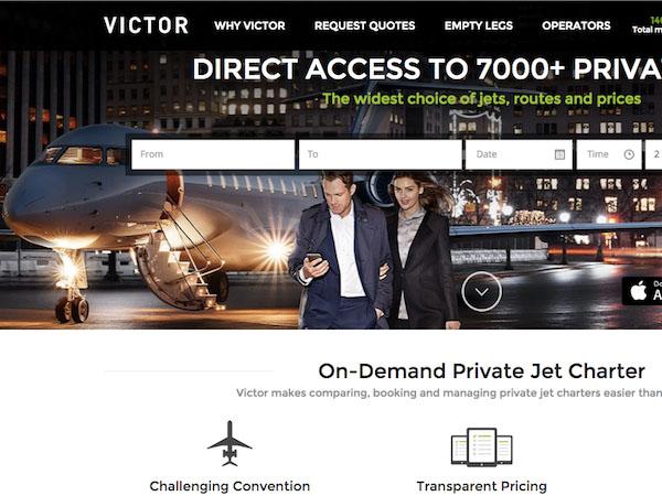 スマホ一台であっという間にプライベートジェットを予約!「Victor」