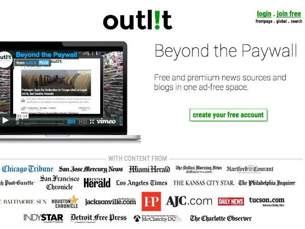 ニュース記事のための課金プラットフォームoutlit