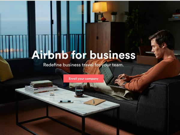 Airbnbのビジネス旅行向けサイト
