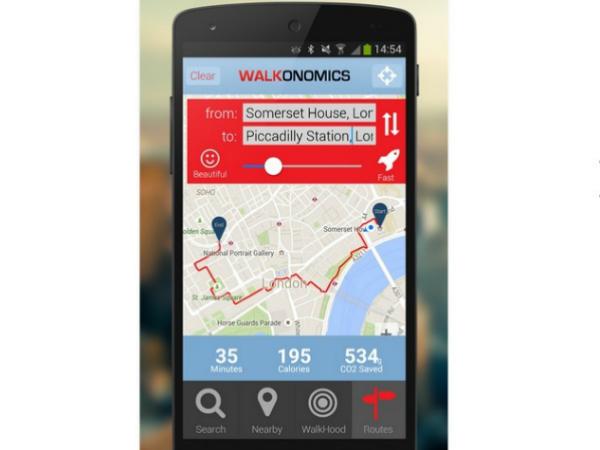 スマホアプリ「Walkonomics」のスクリーンショット