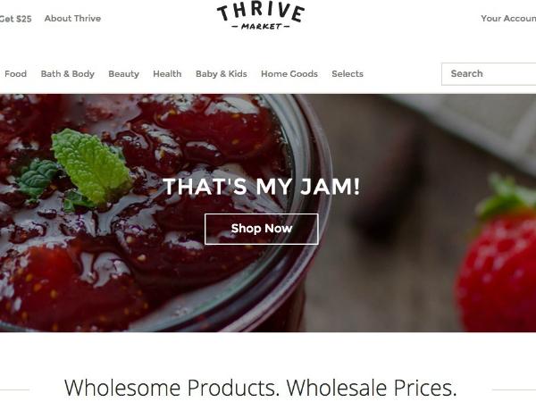 """有机特产在线超市""""Thrive market"""""""