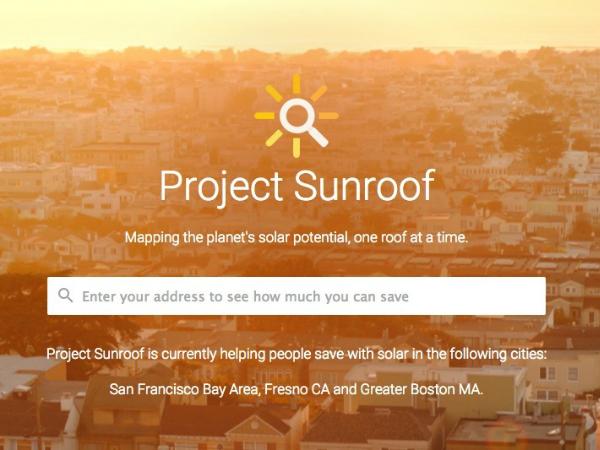グーグルのソーラーパネル適性診断ツール「Project Sunroof」