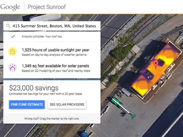 Project Sunroofの診断画面