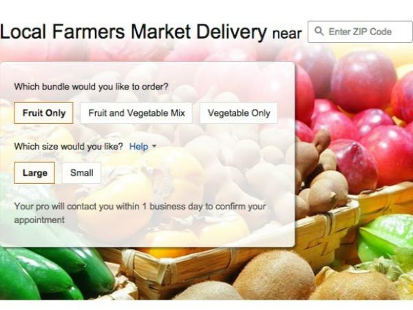 米アマゾンの新サービス「Local Farmers Market  Delivery」