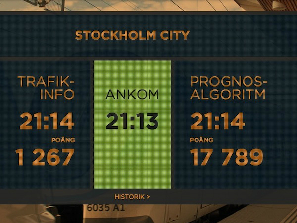 ダイヤ上の到着時刻(左)とシミュレーションに基づく到着時刻(右)