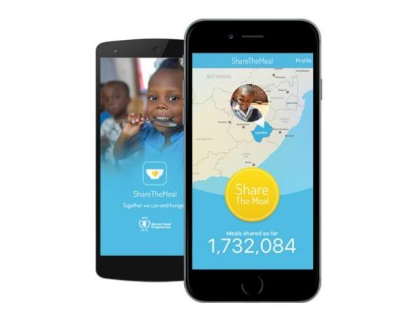 スマホアプリ「ShareTheMeal」のスクリーンショット