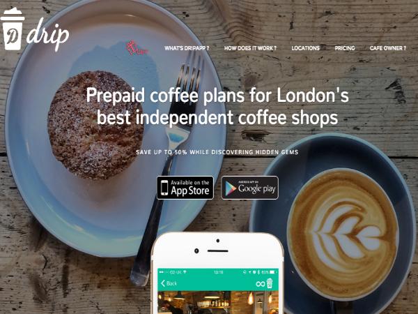 ロンドンのサードウェーブコーヒーがプリペイド式で楽しめるスマホアプリ「DripApp」