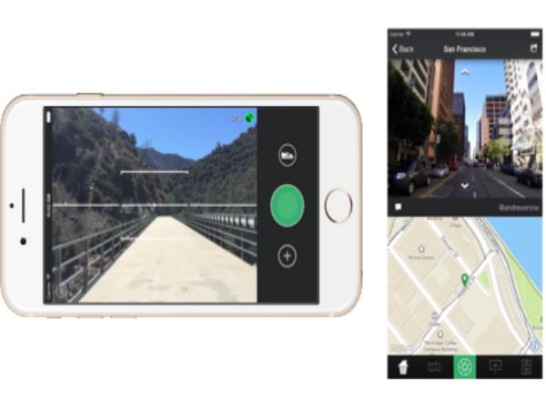 スマートフォンアプリ「Mapillary」のスクリーンショット