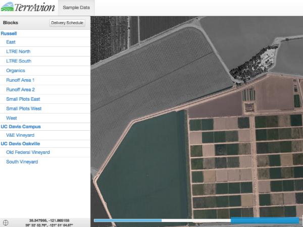 Terravionの航空写真サンプル