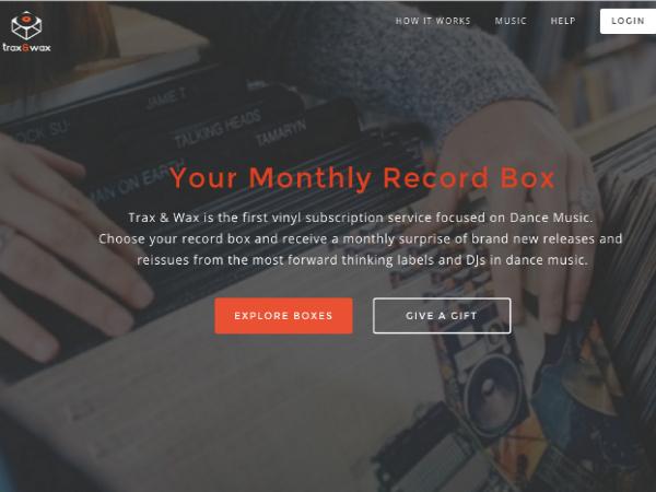 ダンス音楽に特化したレコード定期購入サービス「Trax & Wax」