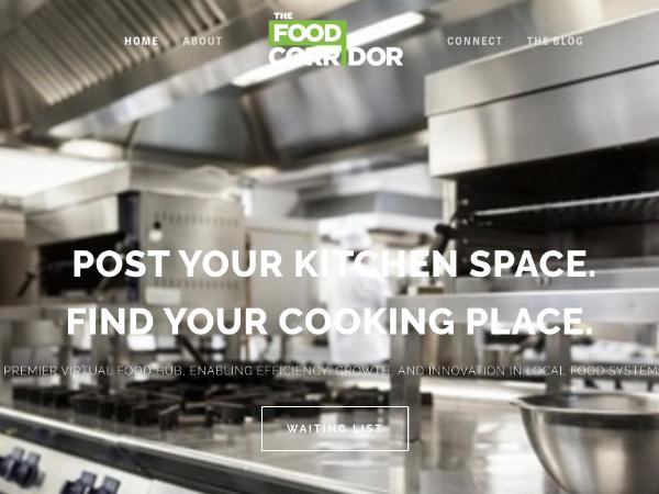業務用キッチンスペースのためのマーケットプレイス「The Food Corridor」