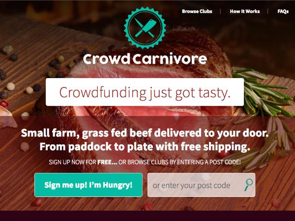 食肉のためのクラウドファンディングサービス「Crowd Carnivore」
