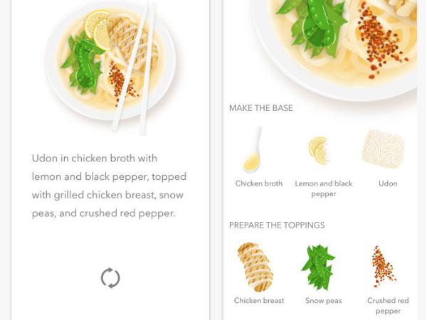 Noodlerのスマホアプリ画面