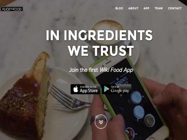 食材のためのWikipedia「Flick on Food」