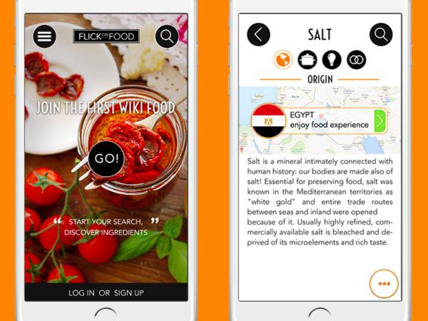 「Fllick on Food」のスマートフォン画面