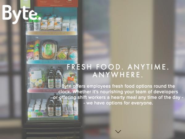 美味しくヘルシーな商品に特化したオフィス向け自動販売機「Byte Foods」