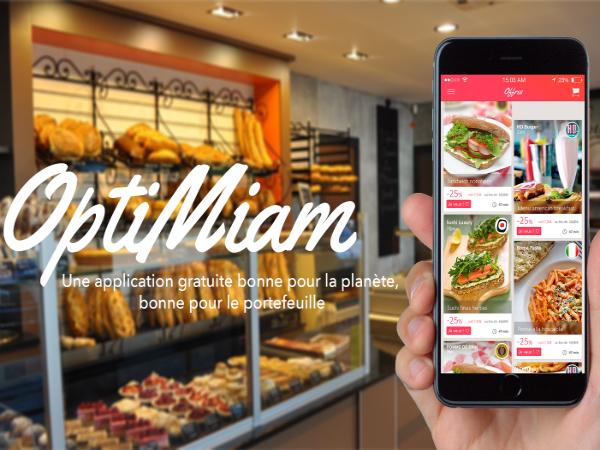 見切り品と消費者をつなぐスマホアプリ「OptiMiam」