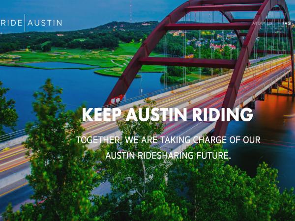 米オースティンのオンデマンド配車サービス「RideAustin」
