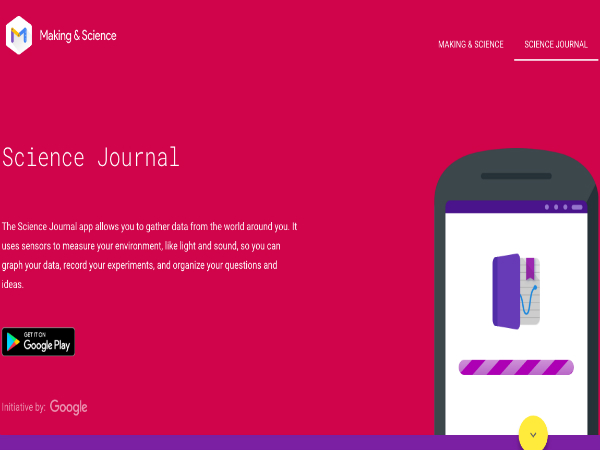 Making & Scienceがリリースした「Google Science Journal」