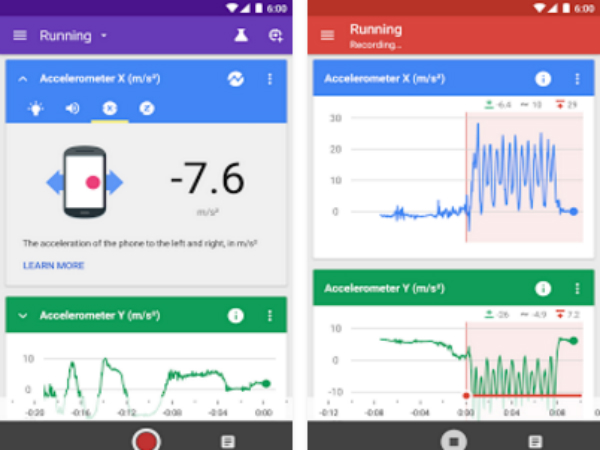 「Google Science Journal」のスマホ画面