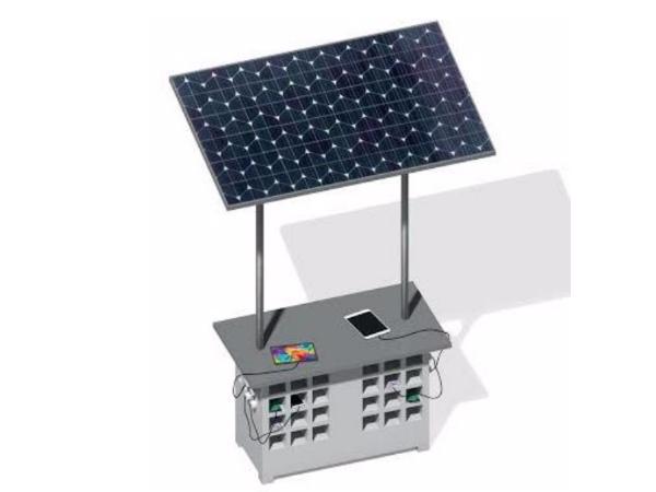 Elpisが開発したソーラー充電スタンド