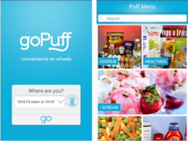 スマホアプリ「GoPuff」画面