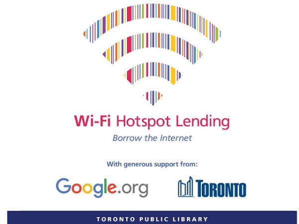 トロント公共図書館とGoogleによるWiFiルーター貸出サービス