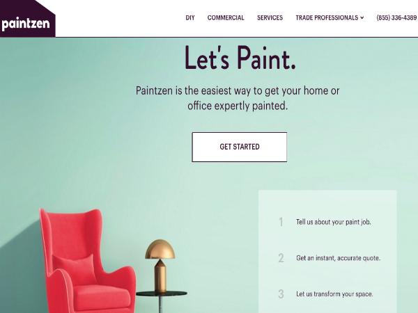 「Paintzen」の公式ウェブページ