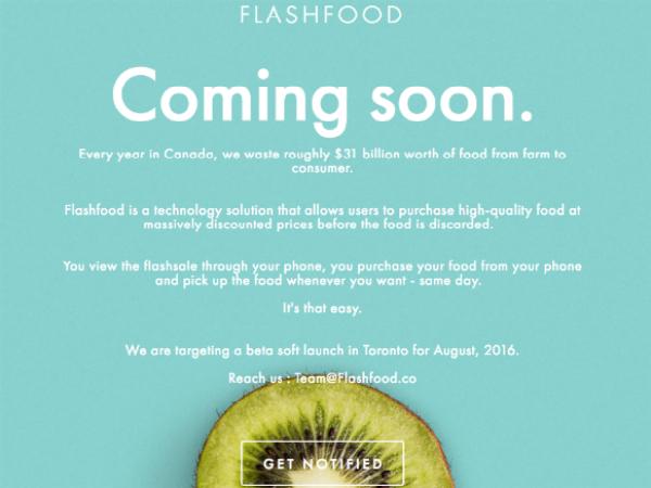 Flashfoodの公式ウェブサイト
