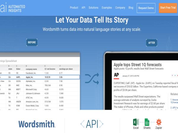データから記事が自動生成されるイメージ