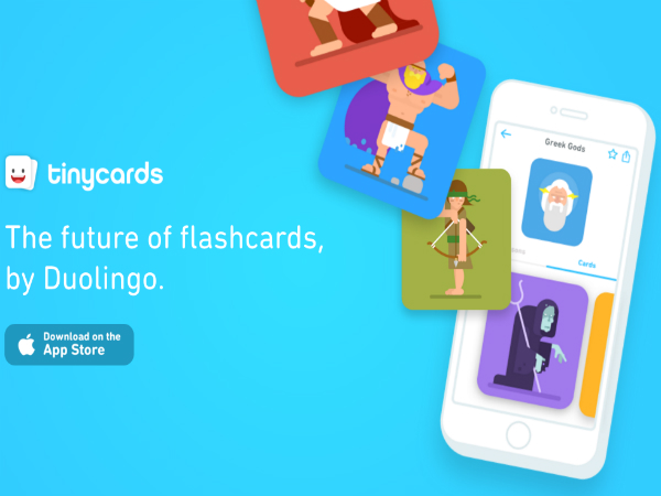 Duolingoがリリースした単語カード「Tinycards」