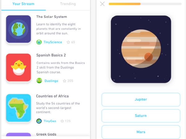 「Tinycards」スマホアプリ画面