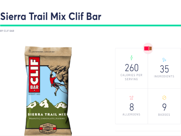 Sage Projectで掲載されているClif Barの情報