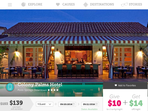 「Kind Traveler」に掲載されているホテル例